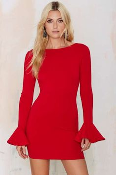 Nasty Gal Kiss 'n Bell Knit Dress - Red - What's New : Clothes