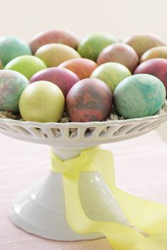 Marbled Easter eggs.