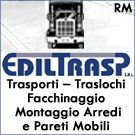 Ediltrasp, trasporti, traslochi, smontaggio e rimontaggio arredi a Roma.