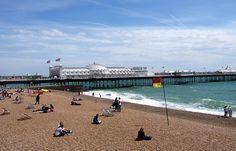 Brighton Beach, England: http://www.ytravelblog.com/things-to-do-in-london/ #travel