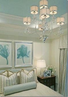 Bedroom   Color Palette Cream White Aqua Blue   Benjamin Moore Porcelain Glaze CSP-550