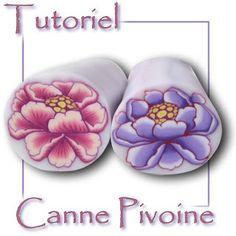 Fimo Cristalline, tuto et bijoux en polymère: Tuto Fimo : canne pivoine !!!