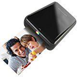 HP Sprocket - Impresora fotográfica portátil (impresión sin tinta, Bluetooth, 5 x 7,6 cm impresiones), color negro/plata: Amazon.es: Informática