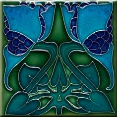Description This is a beautiful tile 6 X 6 inches Tile the print using the dye-sublimation process, the colors are vivid and permanent smooth and glossy finish, not are 3D Handmade The Art Nouveau Design is printed directly on the tile not decal Do not lose color with time, water