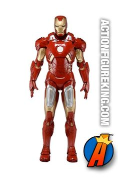 Fully articulated 1/4 scale #IronMan #ActionFigure. See more #Avengers #collectibles here… http://actionfigureking.com/list-3/neca-toys-collectibles-actionfigures-and-memorabilia/marvel-quarter-scale-action-figures-from-neca2/iron-man-mark-vii-1-4-scale-figure-from-neca