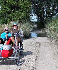 Radwandern mit metallhase Vierrad Tandem Fahrrad