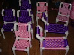 Build a PVC lounge chair Pvc Pipe Crafts, Pvc Pipe Projects, Diy Projects To Try, Projects For Kids, Diy For Kids, Diy And Crafts, Craft Projects, Pvc Furniture, Furniture Projects
