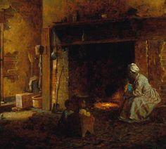 Eastman Johnson, Washington's Kitchen, Mount Vernon, 1864.