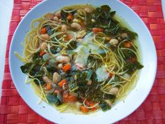 PROUD ITALIAN COOK: Beans, Greens, and Broken Spaghetti Soup