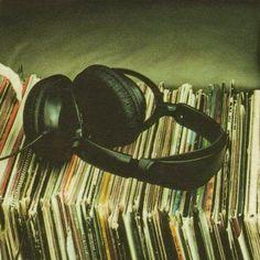 Headphones & Vinyl | via Tumblr on We Heart It