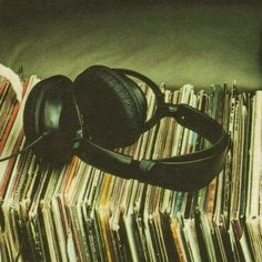 Headphones & Vinyl | via Tumblr on We Heart It