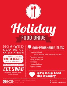 food drive poster - Google Search