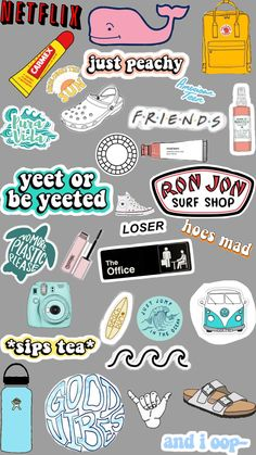 Preppy Stickers, Cute Laptop Stickers, Cool Stickers, Printable Stickers, Cute Patterns Wallpaper, Wallpaper Iphone Cute, Aesthetic Iphone Wallpaper, Journal Stickers, Planner Stickers