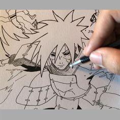 Naruto Sketch Drawing, Art Drawings Sketches Simple, Anime Sketch, Manga Drawing, Naruto Drawings Easy, Goku Drawing, Madara Uchiha, Naruto Shippuden Anime, Otaku Anime