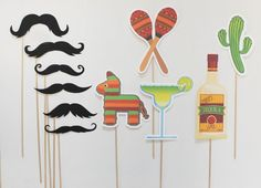 Cinco De Mayo Photo Booth Props. Photobooth Props. Mexican Themed Photo Prop Designs by Little Retreats, $34.50
