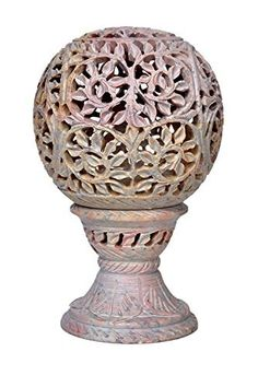 ArtistZila Soapstone Tea Light Candle Holder Handmade with Floral Carving Design for Home Decor and Gift >>> Find out more about the great product at the image link. (This is an affiliate link) Candle Holders, Tea Lights, Hand Carved, Tea Light Candle, Tealight Candle Holders, Carving, Candlelight, Soapstone, Carving Designs