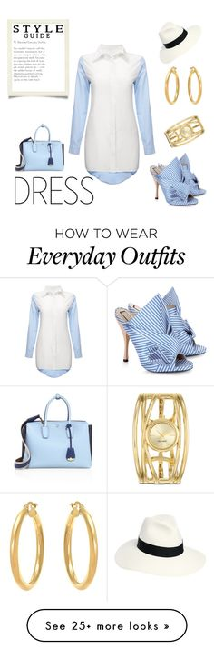"""""""elevated everyday outfit - the shirt dress"""" by louise-bailey-1 on Polyvore featuring N°21, Nine West, Borsalino and MCM"""