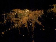 9 Incredible Pictures of City Lights From Space Earth At Night, Light And Space, Earth From Space, Life Is An Adventure, Cartography, Our World, City Lights, Nevada, The Incredibles