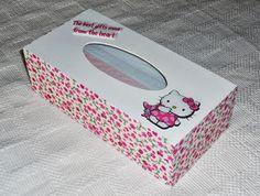 Coelhinhos e Ternuras ♥ Artes Decorativas e Pensamentos : Uma caixinha de lenços um pouco diferente