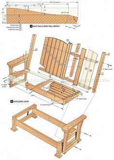 42 How to Build a DIY Farmhouse Outdoor Glider Bench – Farmhouse Room Outdoor Glider Chair, Diy Chair, Outdoor Garden Bench, Outdoor Chairs, Outdoor Decor, Patio Bench, Garden Seating, Outdoor Dining, Woodworking Projects Diy