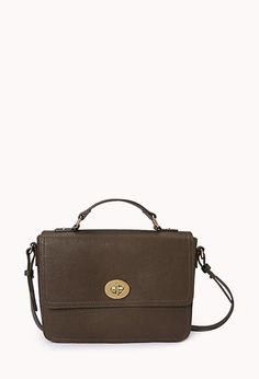 Classic Faux Leather Satchel | FOREVER21 - 1000075893. I definitely want a new crossbody bag. My Phi Sigma Sigma is wearing out and I only have one other purse.
