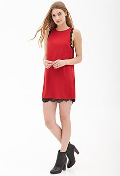 Lace Trim Shift Dress   FOREVER 21 - 2000060322