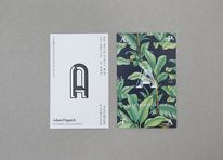 Business cards for art gallery, bar and cocktail academy Apartment A designed by Say What Studio — Designspiration