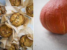 warm pumpkin & coconut muffins - dairy free, gluten free via green kitchen stories