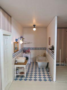 Poppenhuis van Ineke: Badkamer