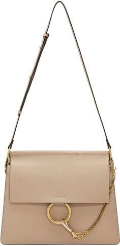 6fb8db6fe13b CHLOÉ Beige Medium Faye Bag.  chloé  bags  shoulder bags  lining