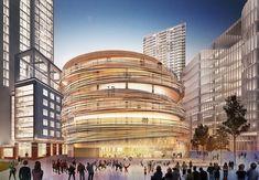 The Darling Exchange©Kengo Kuma and Associates Concept Architecture, Architecture Design, Darling Harbour, Kengo Kuma, Facade Design, Beautiful Hotels, Buddhism, Construction, Urban