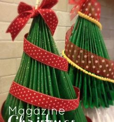 Making a magazine Christmas tree is a DIY craft that is super easy, cheap(or free) and perfect for the holidays! It's a fabulous way to recycle magazines, especially all the holiday catalogs that start stacking up this time of year. ...