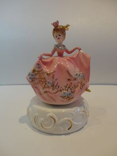 "Josef Originals Music Box Girl - ""Happy Birthday"""