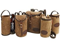 Carry your craft beer with care in a waxed canvas growler pack from Frost River