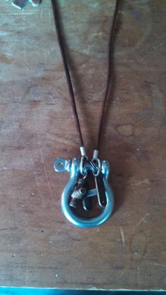 """Handmade D- Ring """"Trail Stories"""" Necklace, Jeep Jewelry, Off Road,Jeep, ring charm holder, unique gift"""