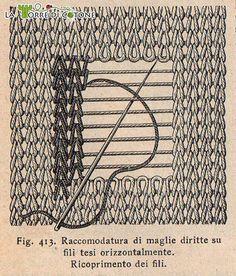 Come riparare i buchi nei lavori a maglia