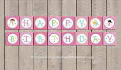 Gymnastic Birthday Banner / Gymnastic Banner by LittleApplesDesign, $5.00