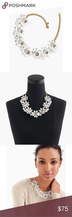 """NWT J.Crew Petal & Crystal Necklace Brand new with tags J.Crew Petal & Crystal necklace - perfect brand new condition - Brass flowers, glass stones, steel, cubic zirconia. - Length: 18 3/4"""" with a 2 1/4"""" extender chain for adjustable length. - !!NO TRADES!! - dustbag not included - J. Crew Jewelry Necklaces"""