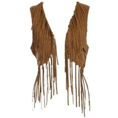 I SO want a suede fringe vest!!!!