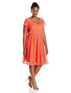 0ea871a1a8c4f Julia Jordan Women s Plus Size Navy Fit and Flare Dress