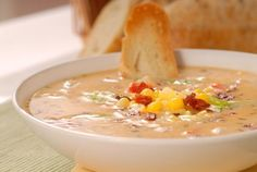 bacon chili corn chowder recipe, soup recipe, creamy chowder recipe, Campbells soup coupons, sweet and spicy recipes
