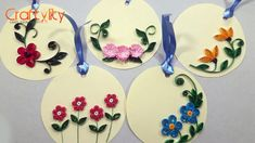 How to make a 3d flower pop up greeting card paper quilling art how to make easy and beautiful paper quilling floral tags m4hsunfo