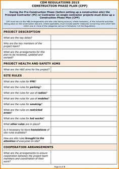 Safety Plan Template Strategic Planning Templates Smartsheet Risk