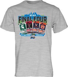 Blue 84 Men's Grey 2019 Men's Basketball Ncaa Final Four Ticket T-Shirt, Size: Large, Gray Ncaa Final Four, Basketball Finals, Texas Tech Red Raiders, Yellow T Shirt, March Madness, Minneapolis, Cool T Shirts, Team Logo, Short Sleeves