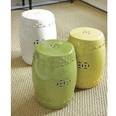 Ballard Designs Ceramic Glazed Garden Seat