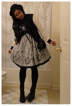 #lolita Japanese Street Fashion, Tokyo Fashion, Harajuku Fashion, Kawaii Fashion, Lolita Fashion, Gothic Fashion, Fashion Outfits, Afro Punk, Mode Mori