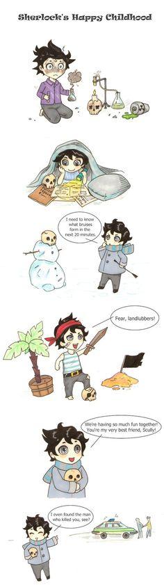 Sherlocks happy childhood :D