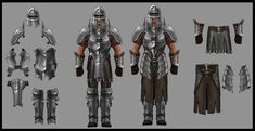 The concept art I will be working on, probably the one on the right Armor Concept, Concept Art, Fantasy Armor, Character Design, Character Art, Fantasy Chronicles, Warriors, Image, Weapons