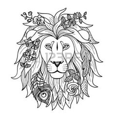 abstract lion tattoo - Google Search