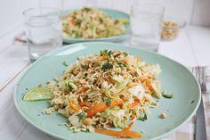 Warm Cabbage & Noodle Salad   A Beautiful Mess   Bloglovin'